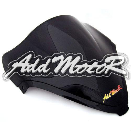 Мотоцикл черный лобового стекла ветрового двойной пузырь для Suzuki Hayabusa 08 - 12 GSXR1300 GSX-R 1300 2008