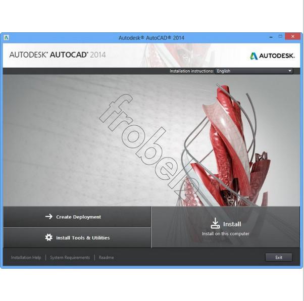 Autodesk программного обеспечения AutoCAD английский версия для победы 32bit цвет пластик чехол