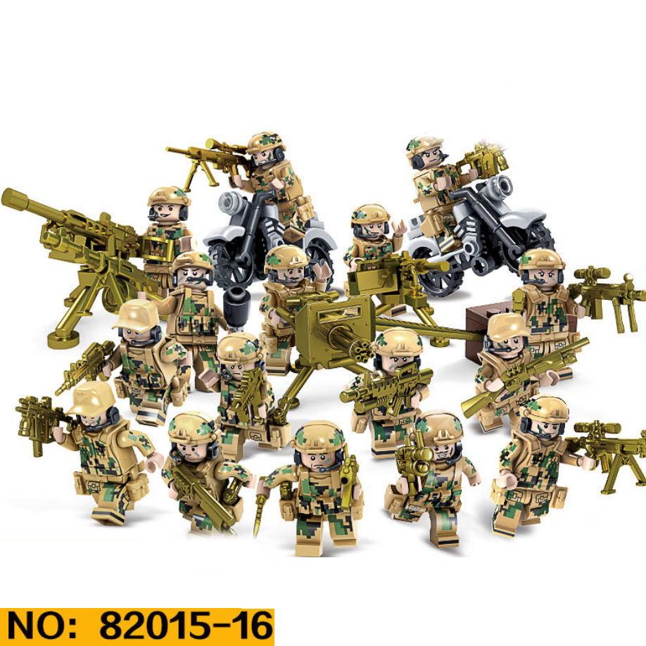Современная команда militay Wolf tooth field brickmania minifigs строительные блоки армейские силы фигурки оружие Кирпичи игрушки для мальчиков подарки(Китай)