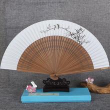 Китайский ручной веер из бамбука и древесины, складной веер ручной работы с принтом, свадебный веер ручной работы, основной подарок, складно...(China)