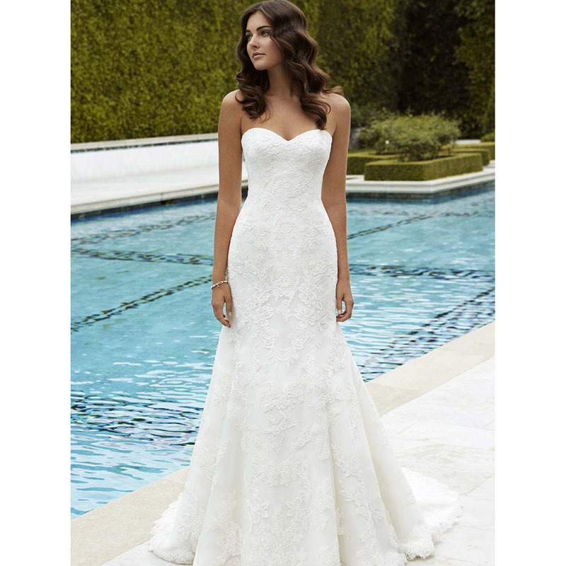 Lace Fit And Flare Wedding Gown: Popular Lace Fit And Flare Wedding Dress-Buy Cheap Lace