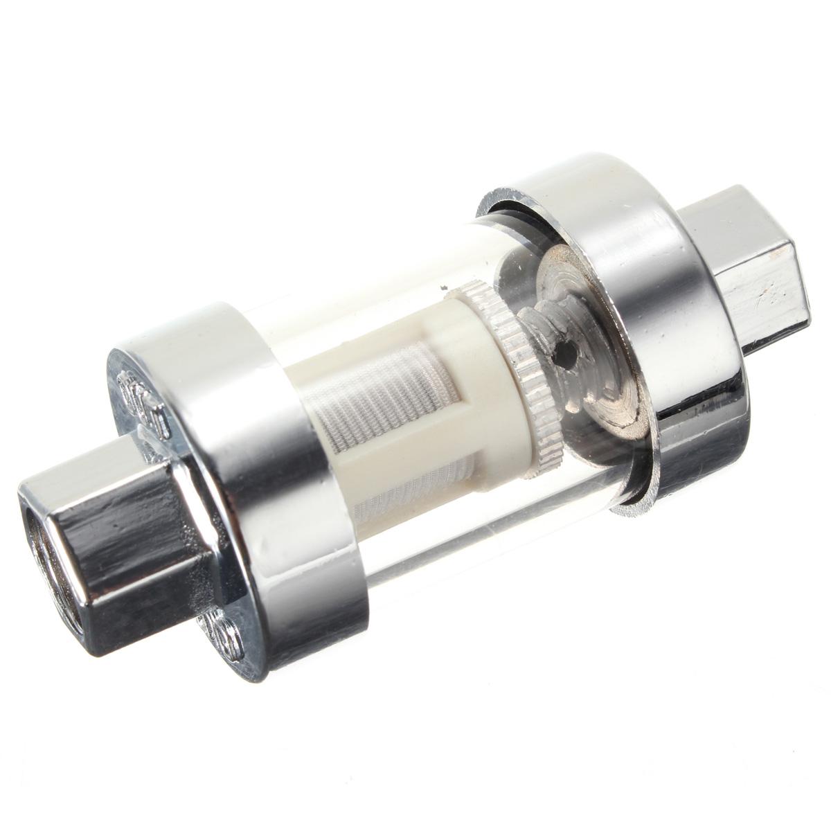 Универсальный мотоцикл хром стекло топливный фильтр 1/4 5/16 3/8 6 мм 8 мм 10 м