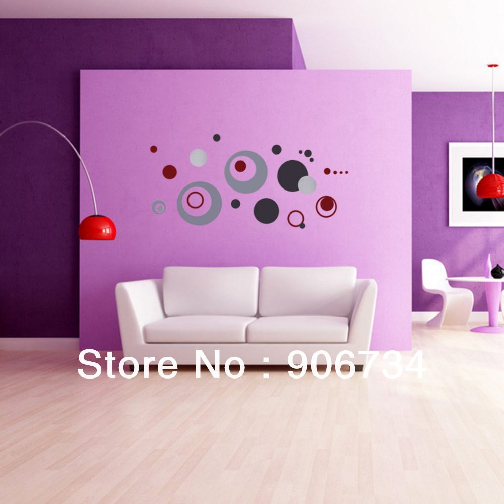 New Free Shipping Home Decoration Crafts DIY Colorful Circle Removable Wall Stickerr Vinyl Decal Art Mural
