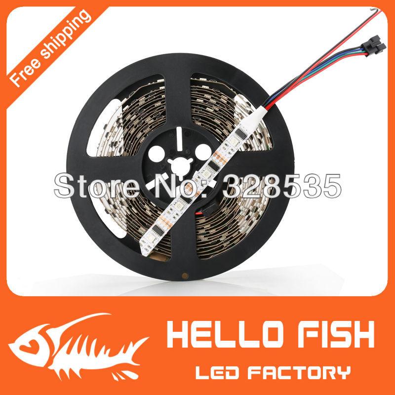 HELLO FISH 5M WS2801 LED strip Raspberry Pi control LED strip Arduino development ambilight TV White