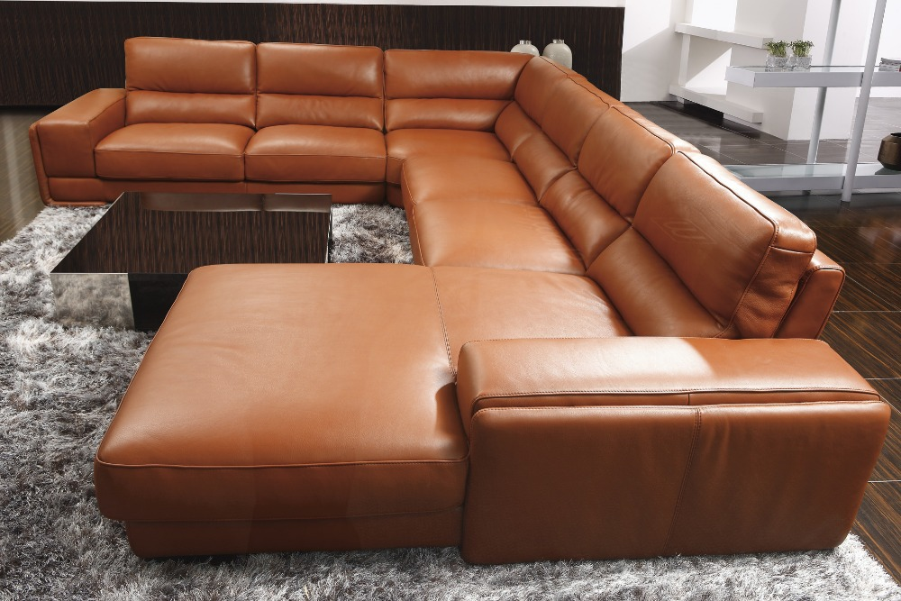 Prime Us 1605 5 5 Off 2015 High Quality Leather Sofa Living Room Sofa Furniture Sofa Set U Shape Big Home Used Genuine Leather Sofa In Living Room Sofas Dailytribune Chair Design For Home Dailytribuneorg