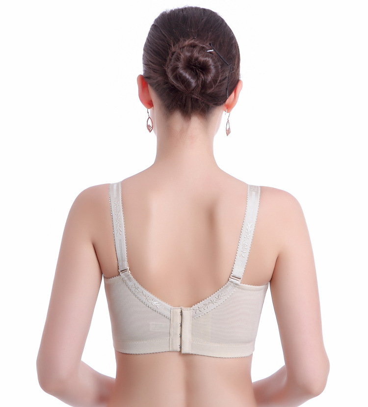 4da8278d3c924 Large Cup Plus Size Bras Ultra Wide Shoulder Strap Thin Cup Breast Reduction  Embrodiery Bra Underwear 36-44 C D DD Free Shipping