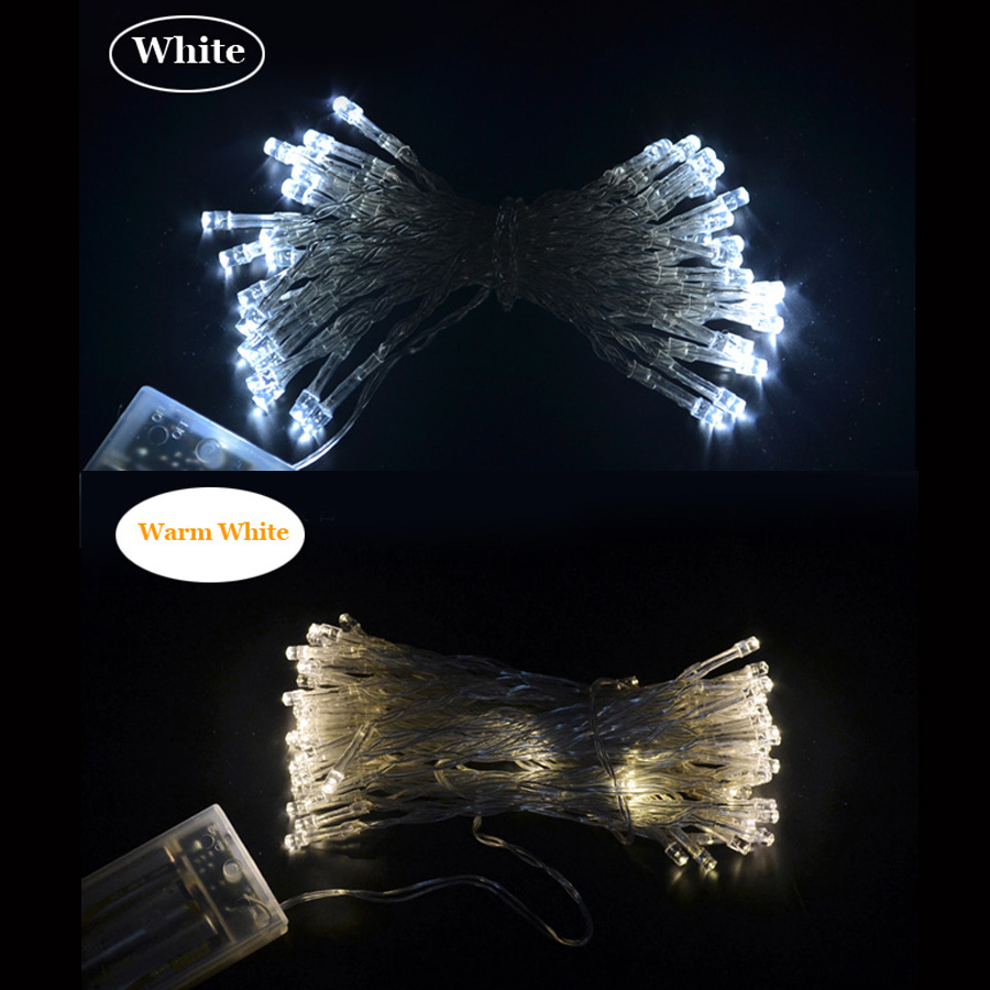 Tanbaby  10M Battery Led Sting Light With 80 Leds 3pcs AA Battery Operate