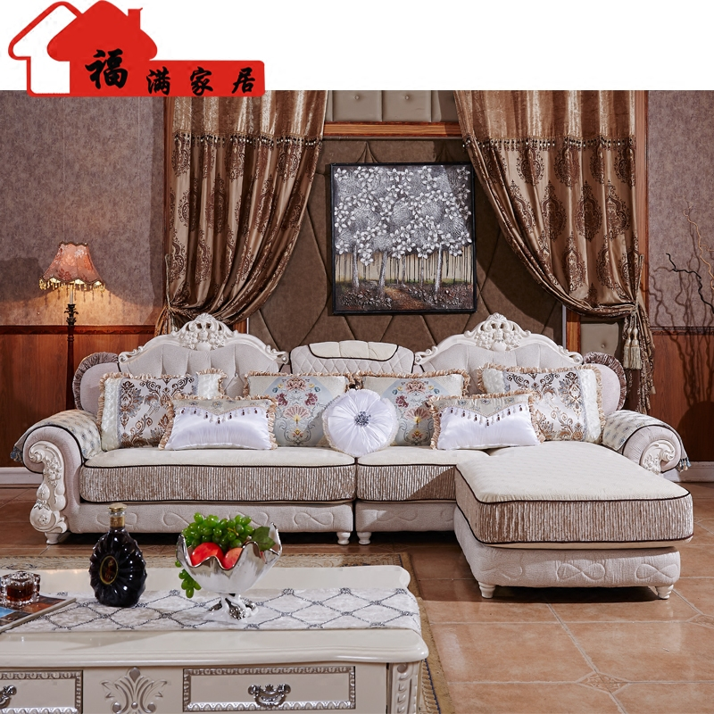 popular european style living room furniture sectional sofas in high quality fabric u02 free. Black Bedroom Furniture Sets. Home Design Ideas