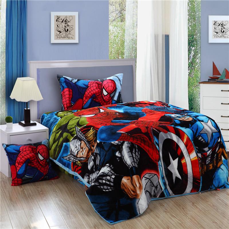 Spiderman Twin Bed Set Spiderman bedding set spider man kids twin size flannel ...