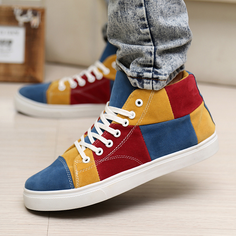 New fall fashion casual men's shoes mixed colors matte ...