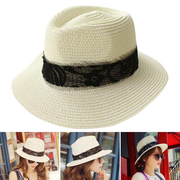 Women Lady Hat Beach Sun Casual Panama Classic Summer Straw Boater Female  Cap shop XR-Hot 3e05e72f2331