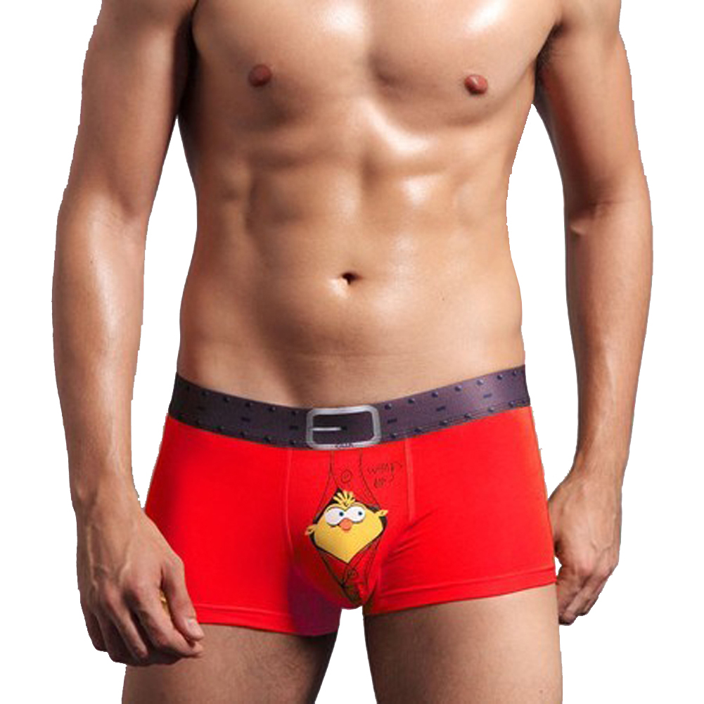 be826a9de65 2019 Luxury Men Underwear Plus Size Cute Birdie Printed Soft Bamboo ...