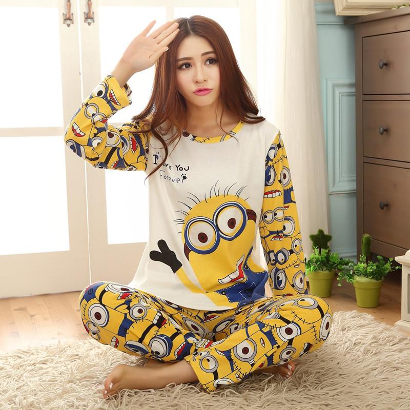 primark kigurumi pyjamas femmes de mujer tidur memakai couple pyjamas pyjama minion femme long. Black Bedroom Furniture Sets. Home Design Ideas
