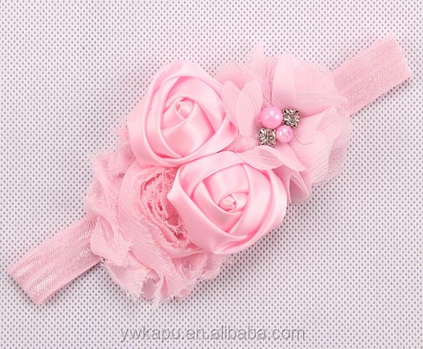 Como Hacer Diademas Para Bebe Diadema De Crochet Con Flor Verde - Como-hacer-lazos-para-diademas