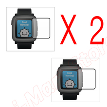 2 Pack New Military Grade Anti-Shock Glare INVISIBLE FRONT Screen Protector Shield Skin For Pebble Time Smart Watch