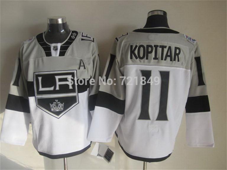save off 046b4 782fb nhl jerseys los angeles kings 11 anze kopitar black ice jerseys