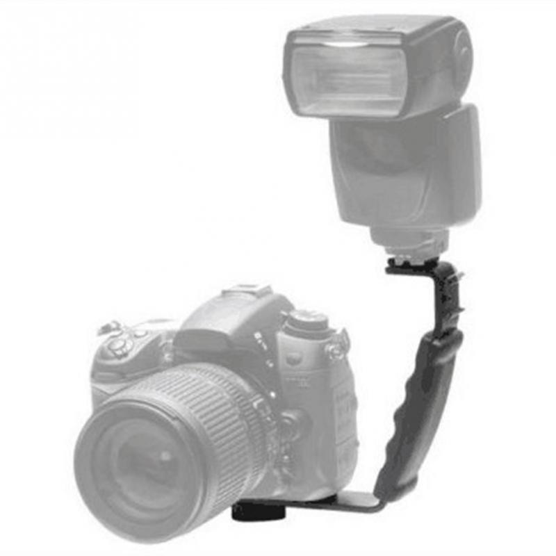 Черный Камера Ручка Тяжелых L Кронштейн с 2 Стандартный Сторона Гора Видео Вспышка Света DSLR Держатель Для Любого Фотографа