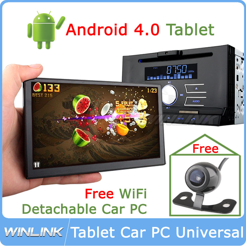 2014 Android 4.0 Universal 2 Din Car DVD GPS 7 Inch Detachable Panel 1Ghz