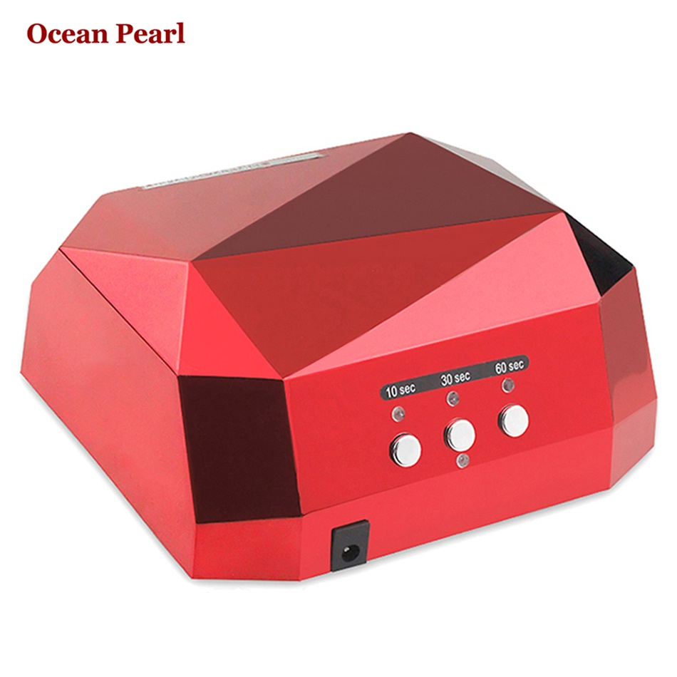 36W UV Lamp LED Ultraviolet Lamp UV Nail Dryer Nail Lamp Diamond Shaped CCFL Curing for
