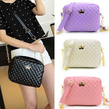 2015 Women Bag Fashion Messenger Bag Rivet Chain Shoulder Bags High Quality PU Leather Crossbody N0310