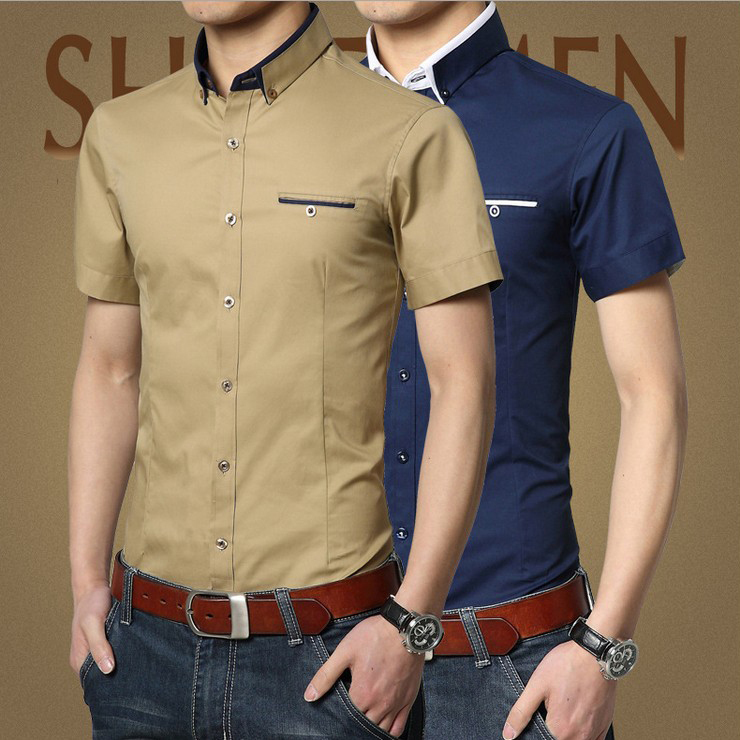 Mens Slim Fit Business Shirt Long Sleeve Formal Dress Shirts Casual T-Shirt Tops. C $ Free shipping.