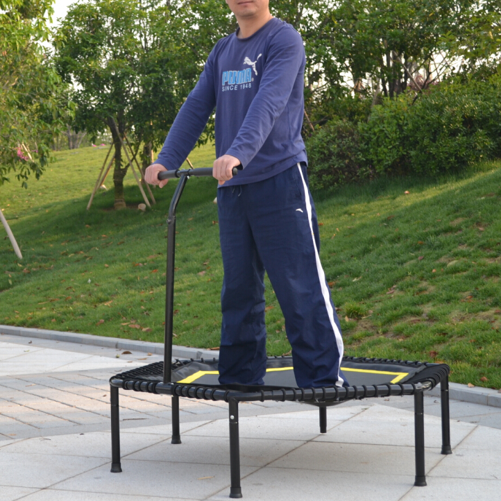 Hexagon Trampoline With Bungee Cord Spring Free-in