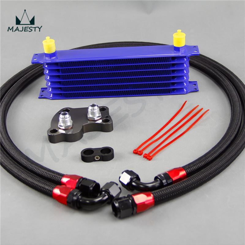 7 ряда(ов) масляный радиатор мини купер s нагнетатель r53 двигатель кпп синий + специалистом комплекты черный
