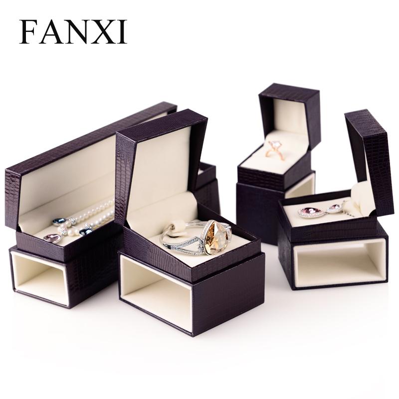 FANXI-Purple-Jewelry-Box-PU-Leather-Jewelry-Box-ring-Box