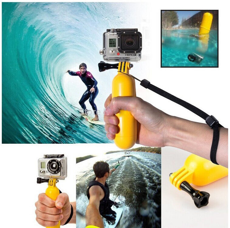 Bobber Floating Handle Antislip Wrist Strap For GoPro HD Hero 4 3+ 3 2 / SJ4000/SJ5000