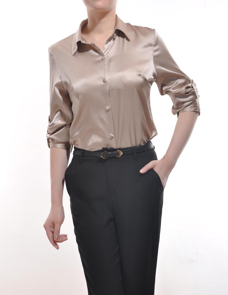 Satijnen silk satin blouse leather leren rok skirt - 3 10