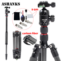 ASHANKS A25C Professional Loading 10KG Carbon Fiber Portable Camera Tripod with Ball Head and Carry Bag