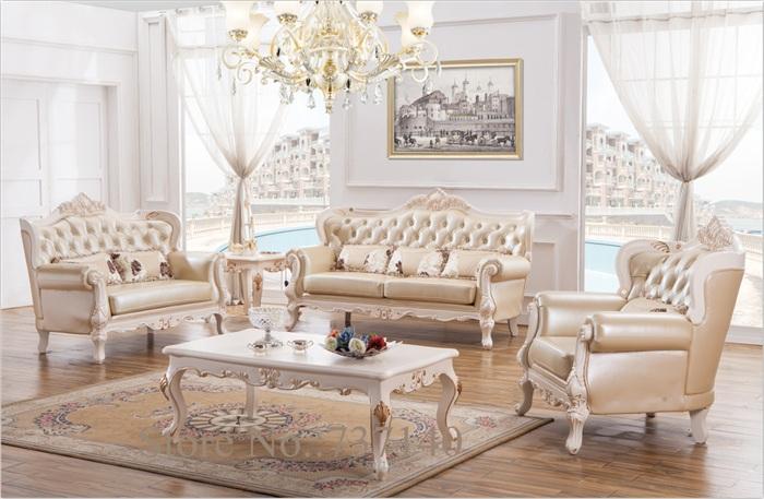 Baroque living room furniture sofa set solid wood and - Wholesale living room furniture sets ...