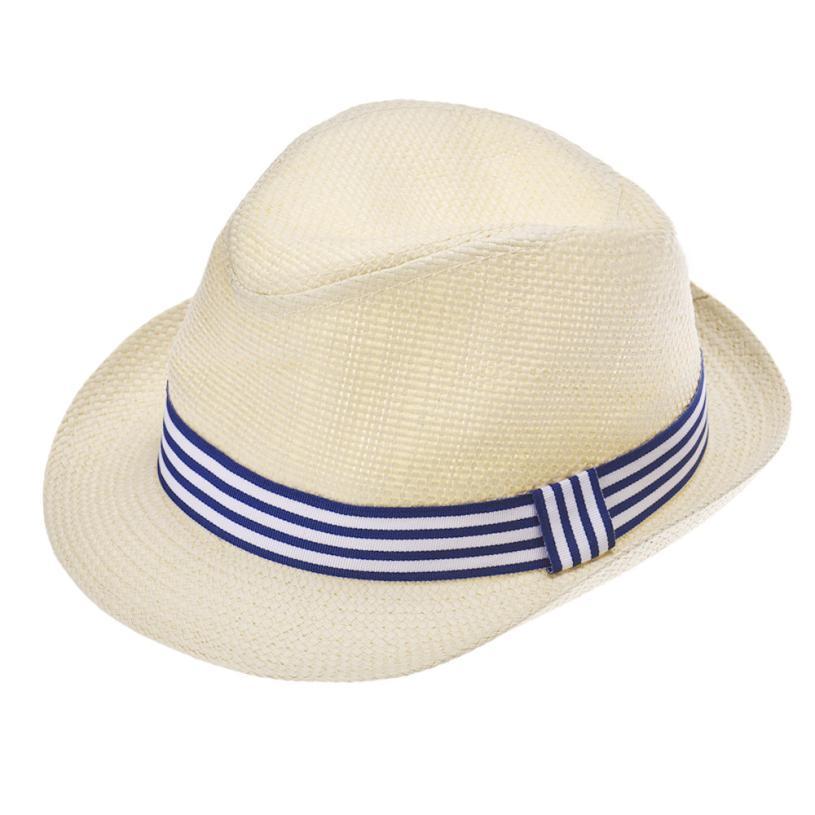 Children Boys Girls hats straw braid Fedora Trilby Jazz Hats infant soft Caps stretchy cute thick