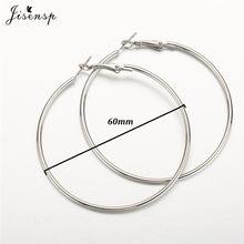 Jisensp 30/40/50/60 мм модные большие серьги-кольца, гладкие круглые серьги для женщин, ювелирные изделия Hyperbole oversize, аксессуары(Китай)
