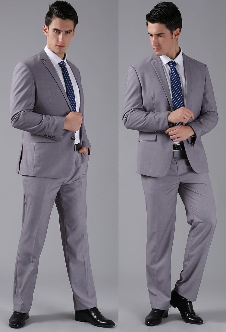 (Kurtki + Spodnie) 2016 Nowych Mężczyzna Garnitury Slim Fit Niestandardowe Garnitury Smokingi Marka Moda Bridegroon Biznes Suknia Ślubna Blazer H0285 58