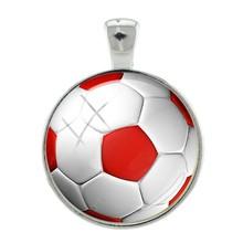 JOINBEAUTY Подвески волейбольный футбольный узор кулон брелок ожерелье аксессуары ювелирные изделия DIY стеклянные купольные аксессуары SP688(Китай)