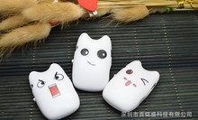 Wholesale Quality Smiling Cat Mini MP3 Music Player with TF Card Slot for leisure (no accessories)