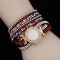 2016 New Fine Jewelry Bling Pulseira Couro Slake Deluxe Wrap Bracelet MK Women Watches Luxury Relogio