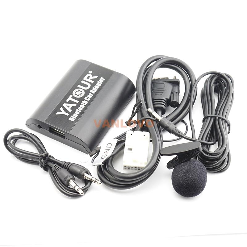 Bluetooth ссылка Car Kit Bluetooth громкой связи призывает и беспроводной потоковой музыки интерфейса для Audi A4 S4 RS4