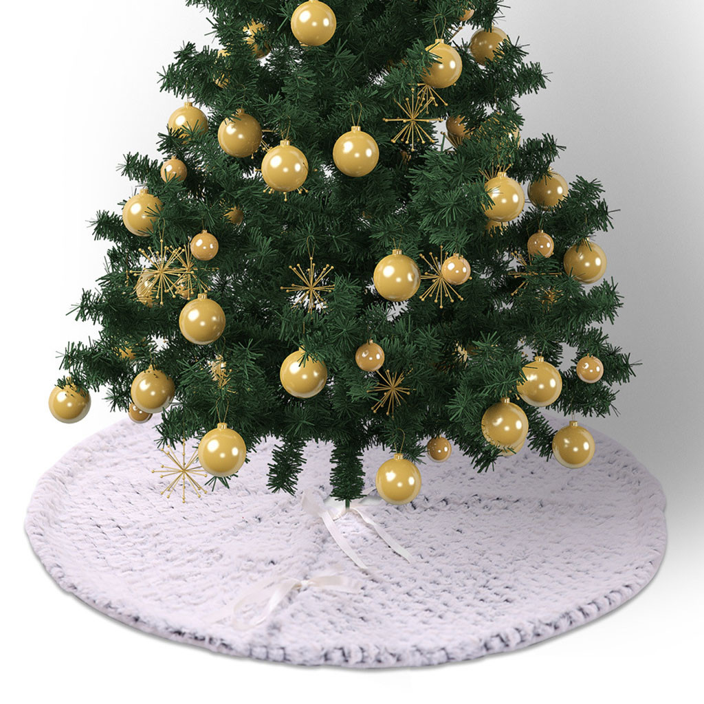 Christmas Tree Decorations 2019.New Year 2019 Christmas Tree Skirt Christmas Tree Decorations Ornament Diameter Gift Navidad Xmas Partysupplies Hot
