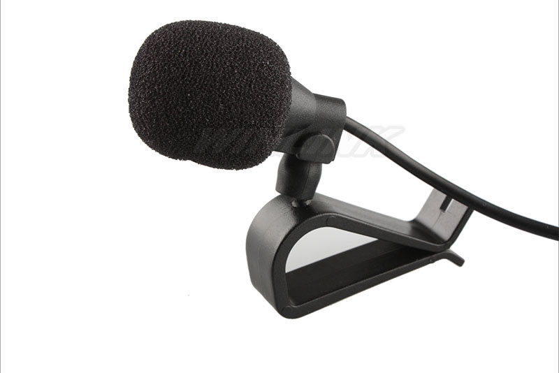 Car Microphone: Special Black Hands Free Clip On Car Microphone 3.5mm Mini