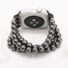 Женский Шнур с адаптером для Apple Watch, роскошный дизайн из агата, ремешок для Apple Watch, 3/2/1, модный стиль(Китай)