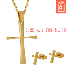 Free shipping Fashion Jewelry 18K gold plated stainless steel bear Sets