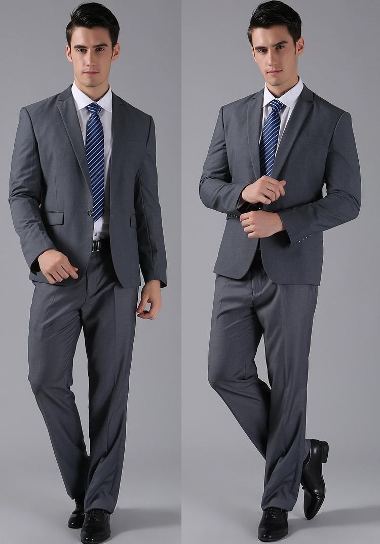 (Kurtki + Spodnie) 2016 Nowych Mężczyzna Garnitury Slim Fit Niestandardowe Garnitury Smokingi Marka Moda Bridegroon Biznes Suknia Ślubna Blazer H0285 47