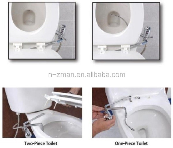 Bidematic Toilet Attachment Hot Cold Water Bidet System