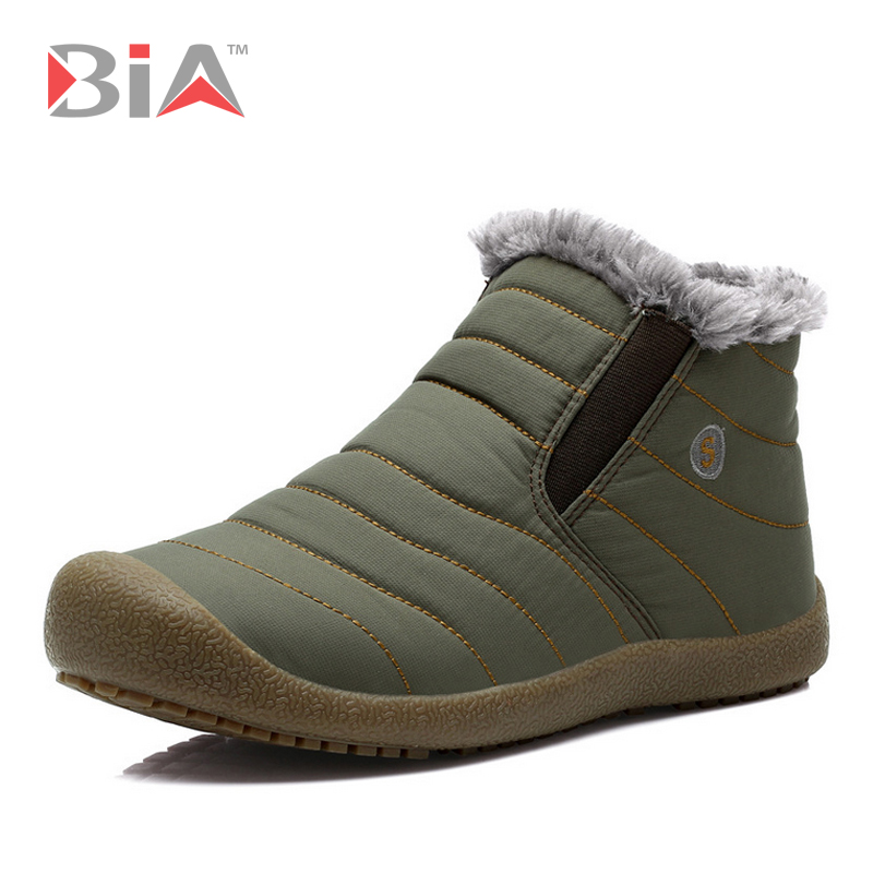 New 2015 Frosty Winter Shoes for Men Ankle Snow Boots