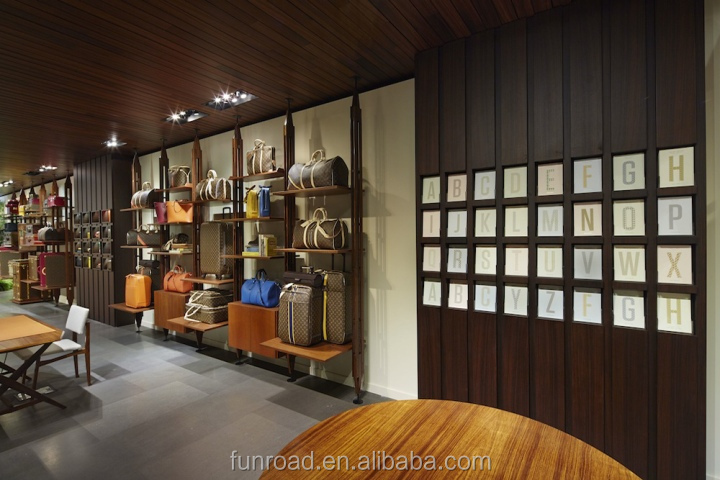 Antique High End Wooden Shoe Retail Showroom With Display