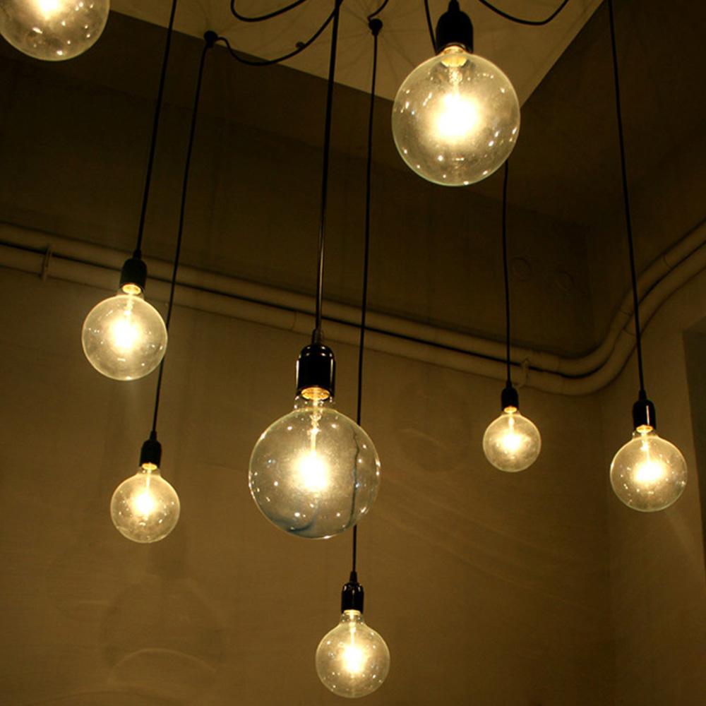 e27 socket lamp holder for pendant bulb home light diy lamps vintage style multiple bulbs ikea. Black Bedroom Furniture Sets. Home Design Ideas