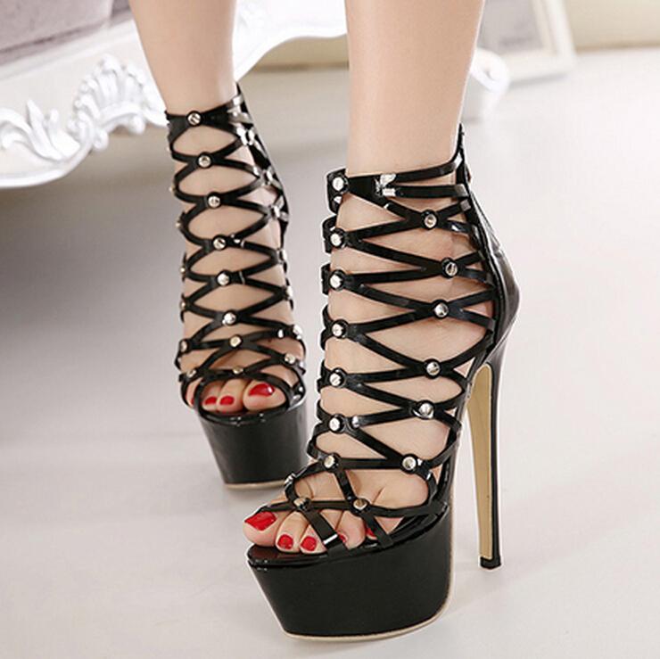 Platform 6 Cm Heels High 16 Cm Sexy Party Shoes Women