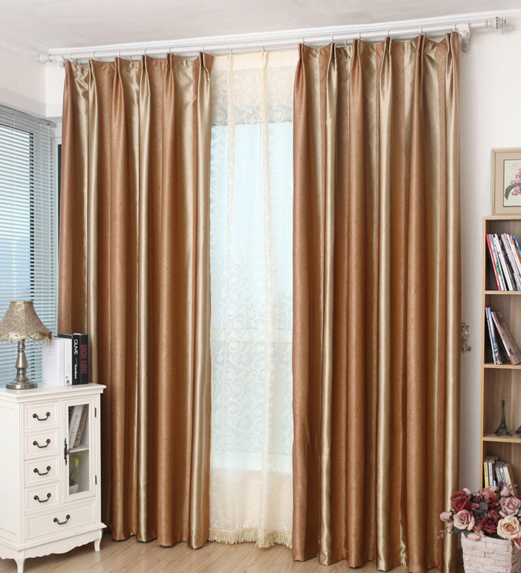 Modern-brown-striped-Embossed-blackout-curtains-with-white
